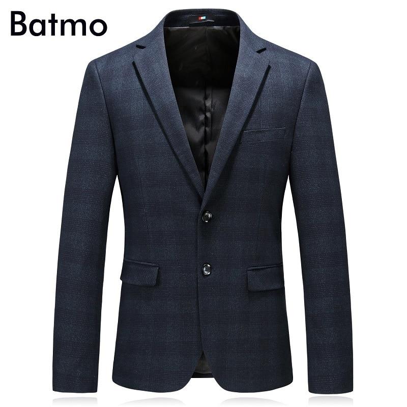 Batmo 2018 New Arrival Autumn High Quality Smart Casual Plaid Suits Men,men's Casual Blazers,men's Jackets Plus-size M-4XL 8117