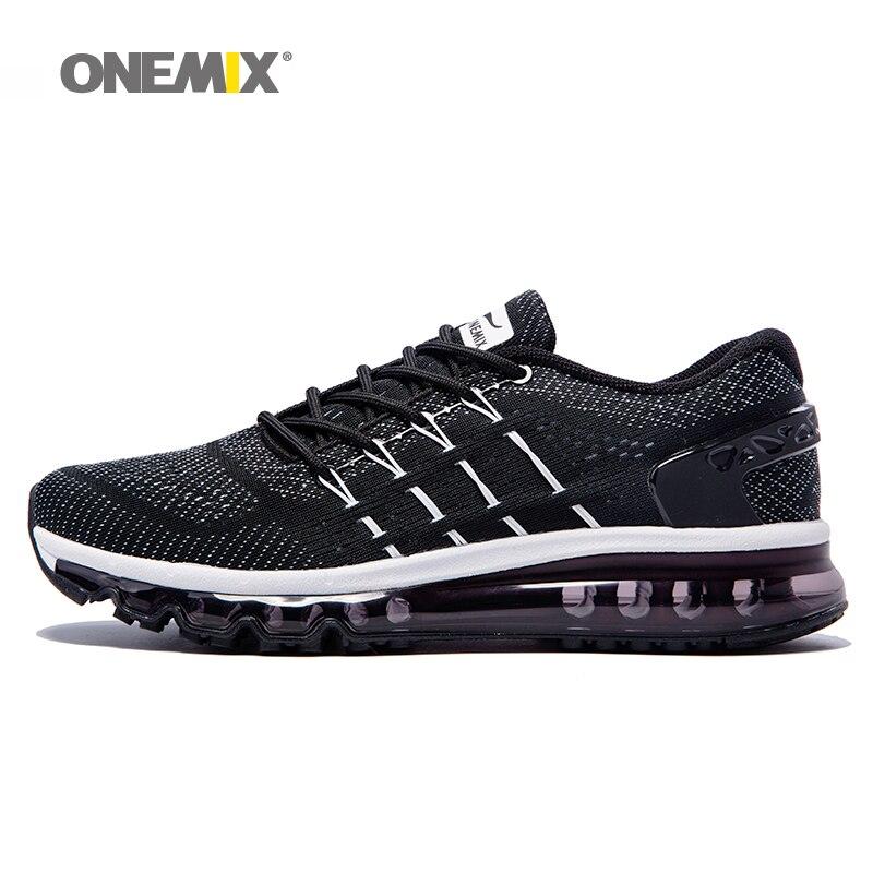 Onemix hommes de chaussures de course cool lumière respirant sport chaussures pour hommes sneakers pour jogging en plein air de marche chaussures grande taille 39-47