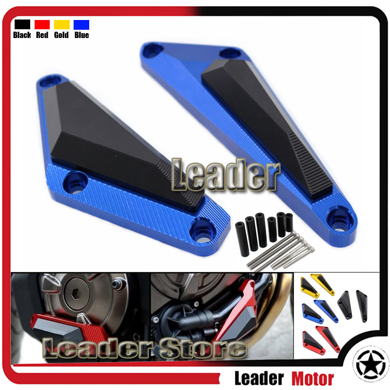 For YAMAHA MT-07/ FZ-07 MT07/FZ07 2014-2016 Motorcycle Accessories CNC Aluminum Engine Protector Guard Cover Frame Slider Blue engine bumper guard crash bars protector steel for yamaha mt09 mt 09 fz07 fz 09 2014 2016 2014 2015 2016 motorcycle