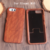 2017 Luxury For Xiaomi Mi6 Case Qimei Natural Bamboo And Wood Shell Back Cover Case For