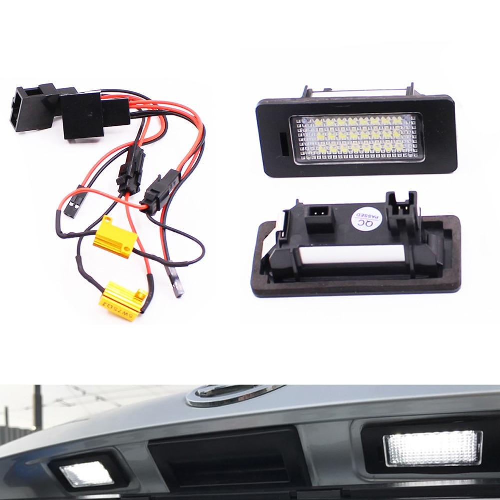 2 Pcs Auto 24 LED Number License Plate Light for VW Golf 6 Wagon Golf 7/Plus Jetta 6 Passat B7 Wagon Sharan 2 Touran CSL2018