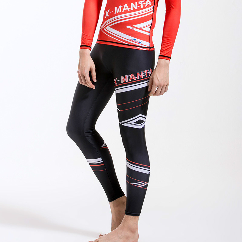 Man lycra long Pants Summer Beach swimsuit rashguard Swimming Surfing Leggings Beach Swimwear Rash Guard Man Slim-fit Sports