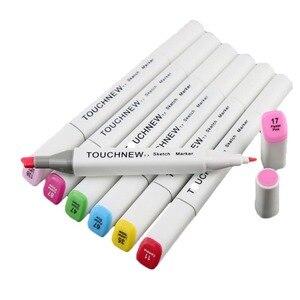 Image 4 - TOUCHNEW (T7) 30/40/60/80/168 ألوان أقلام تلوين مجموعة الكحول أساس رسم قلم تحديد Fineliner للرسم مانغا اللوازم المكتبية