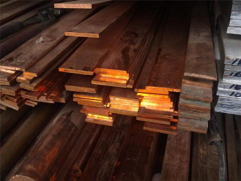 1PCS CA005 Copper Row 4mm*40mm*100mm Copper Stick Free Shipping Sell at a Loss T2 Copper Bar Copper Billet TMY Copper Block
