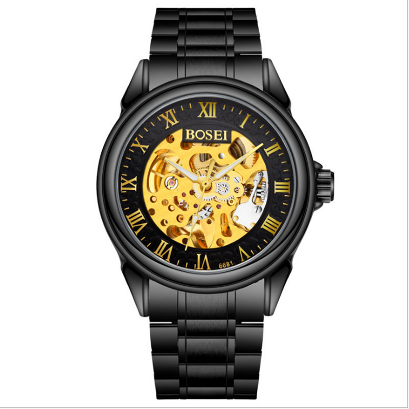 New men's leisure business quartz watch. Luxury Men Watch Full Stainless Steel Gold Quartz Watch new fashionable men business silver belt gear quartz watch