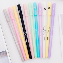 Creative Twelve Constellations Gel Pen Kawaii Candy Colors Writing Handles Pens for Students Gifts Nice Office School Supplies