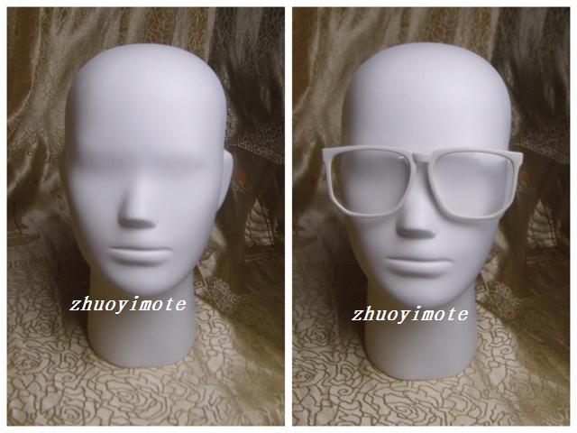 Earphone Sunglass Scarf Display Matte White Abstract Dummy Women Mannequin Head Fiberglass Female Mannequin Head