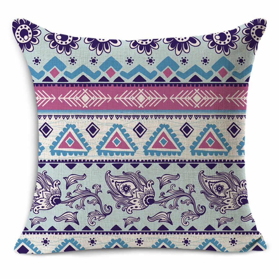 Творческий геометрический Nordic диванная подушка для дома декоративная подушка тонкой льняная наволочка Средиземноморский спинки сиденья подушки 45х45см наволочка для R4