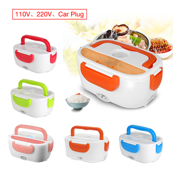 11V/220V/Car Plug Portable Electric Heating Lunch Box Food Container Food Warmer Heater Dinnerware Sets for Home Car image