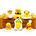 6 Шт./компл. 4 см Желтый Ленивый Яйцо Gudetama 5 см Аниме Мультфильм ПВХ Рис Коллекция Игрушек Для Детей