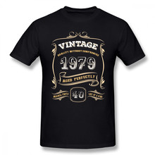 841767106 40th Birthday Gift Gold Vintage 1979 Aged Perfectly Men T Shirt Fashion  Camiseta 4XL 5XL 6XL