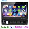 7inch 1DIN In Dash Manumotive Ultra Slim Android 4 4 2 Quad Core Car GPS Bluetooth