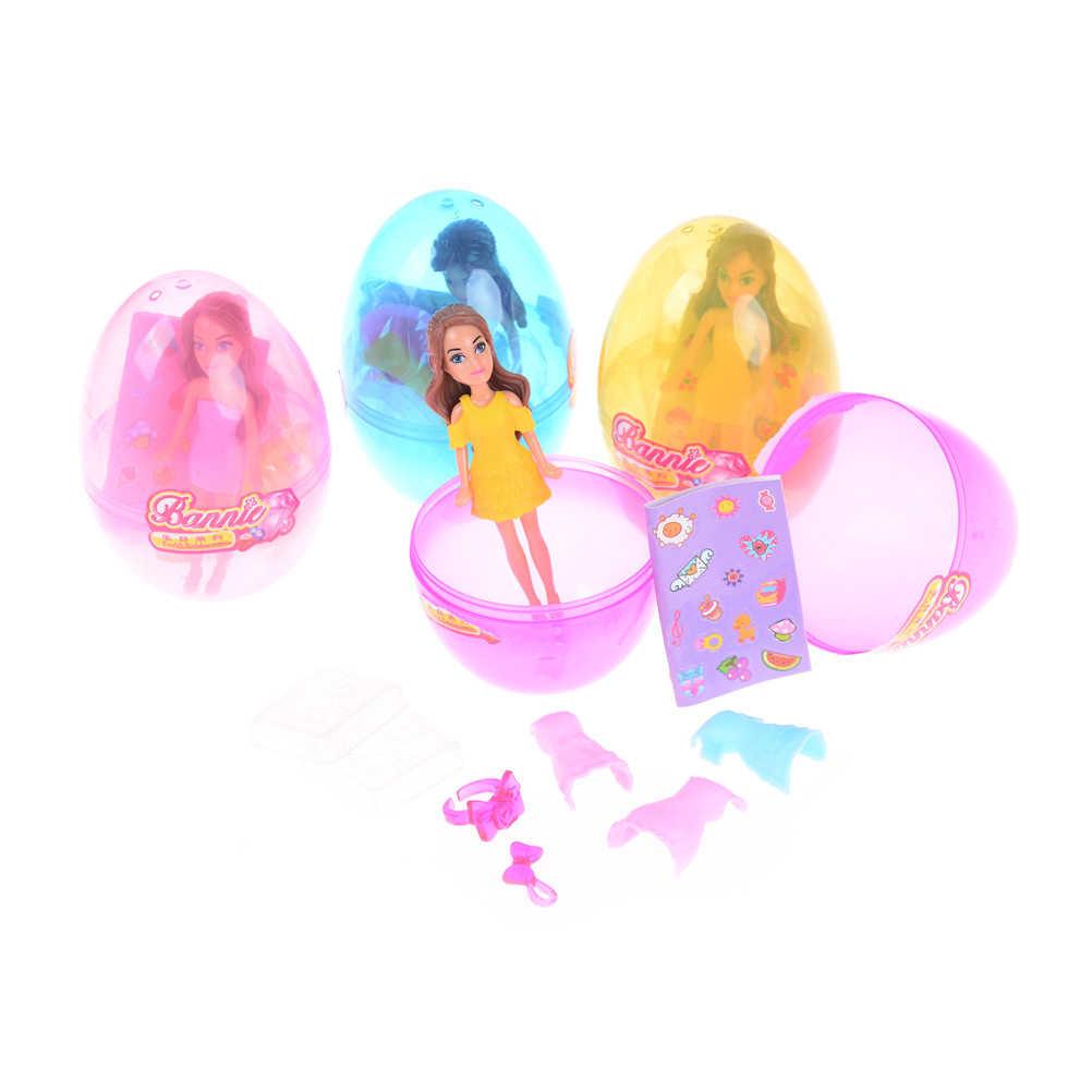 Casa de muñecas niña huevo mágico bola muñeca de juguete vestido hermoso para niña Up disfraz juego de rol figura juguetes para niña niño regalo
