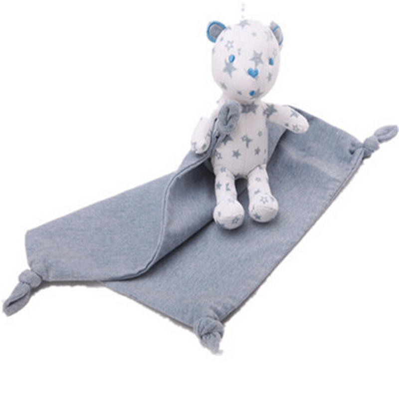 Newborn Cute Baby Plush Bear Doll Hand Towels Ease Soft Teddy Toy Child Infant Reure Towel Kids Gift A83