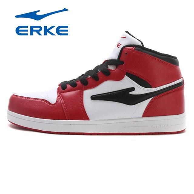 Ерке Для мужчин Обувь для скейтбординга спортивные 2018 Холодный Свет Уайт Спортивная обувь открытый высокой верхней Обувь спортивная для девочек воздухопроницаемая комфортная обувь Обувь