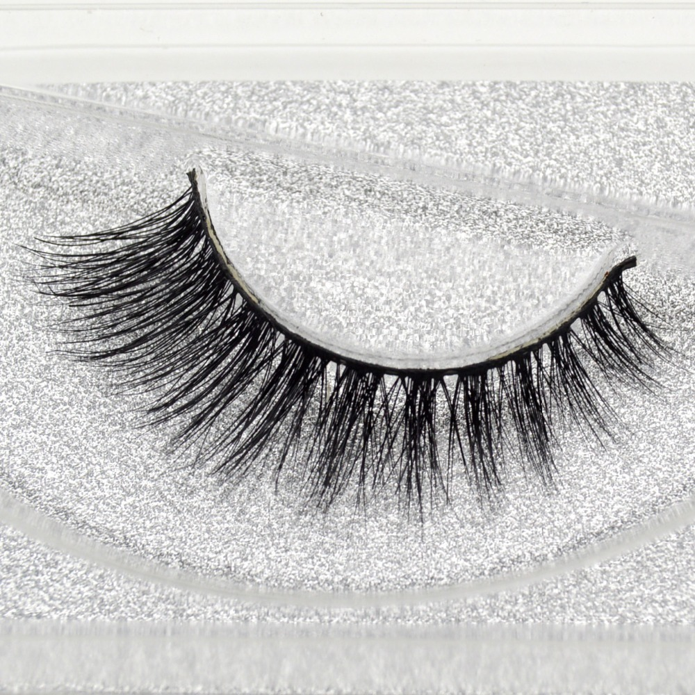 Visofree Mink False Eyelashes Classic Collection Upper Lashes Natural & Lightweight Mink Lashes 1 Pair Glitter Packaging A01