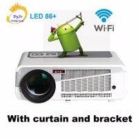 Poner Saund светодио дный 86 + wifi Android 6,0 HD светодио дный 3D Smart светодио дный 5500 люмен проектор 1080P HDMI видео домашнего кинотеатра Vs светодио дный 96 M5