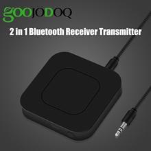 2 ב 1 אלחוטי Bluetooth 4.2 אודיו משדר מקלט 3.5mm Aux מתאם עבור טלוויזיה בית סטריאו מערכת מחשב אוזניות רמקול