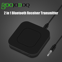 2 in 1 Wireless Bluetooth 4.2 Audio Transmitter Receiver 3.5mm Aux Adapter For TV Home Stereo System PC Earphone Speaker