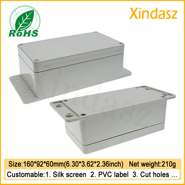 160*90*60mm wandhalterung gehäuse ip65 pcb kunststoff gehäuse für ...