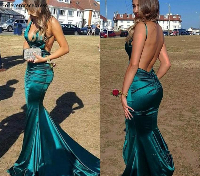 Backless   Evening     Dresses   2019 Spaghetti Straps Formal Women Holiday Wear Celebrity Party Gowns Plus Size Custom Made