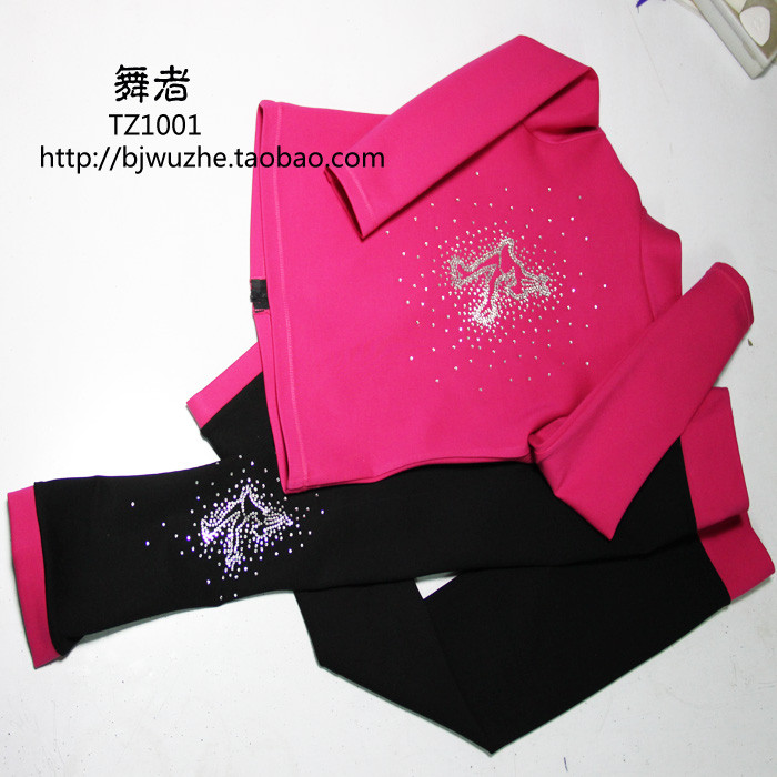 pink ice skating jackets for girls hot sale kids figure skating suits free shipping training ice jackets children 8