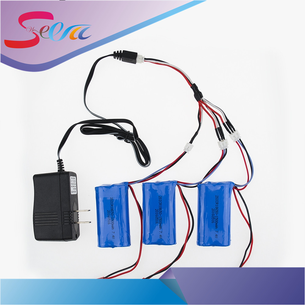 US/China plug charger 1to3 cable 7.4V 1500Mah 18650 Battery Parts For MJX T40 T40C F39 F49 T39 Syma 822 RC Helicopter Wholesale for the mjx b3 helicopter 3pcs 7 4v 1800mah battery and the us regulatory charger with 1 care 3 line aircraft accessories xt30
