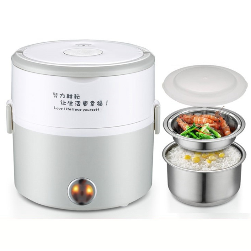 DMWD 1.2L Mini Electric Cooker Food Heater Heat Preservation Portable Lunch Box Rice Cooker Simple Steaming/Boiling/Stewing 220V reheating automatic heated food containers mini lunch box multifunction food box heat preservation