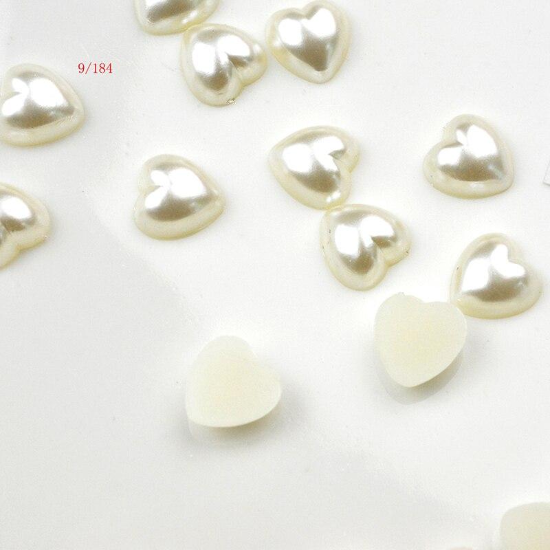 100pcs Mixtes Plastique Coeur Perles Lot 10 mm À faire soi-même Embellissement Artisanat