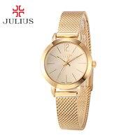 Top Julius Lady Women's Watch Japan Quartz Elegant Simple Fashion Hours Korea Dress Bracelet Chain School Girl Birthday Gift Box