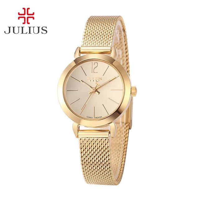 cec274cdc24 Top Julius Senhora Assistir Japão Relógio De Quartzo das Mulheres Simples E  Elegante Moda Horas Coréia