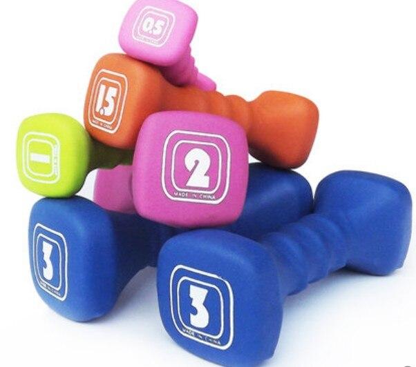 0.5 kg * 2 pièces yoga aérobic haltère en plastique trempette dans haltère d'entraînement fitness haltère