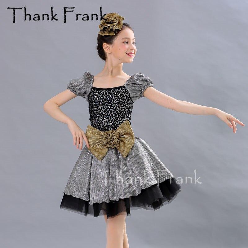 Manches bouffantes Ballet danse robes filles ballerine robe enfants Ballet fille vêtements tenue adulte Sequin maillot de bain pour danser C547