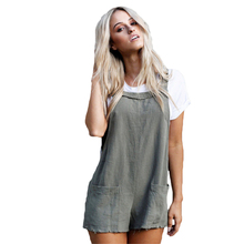 YJSFG HOUSE Summer Womens Playsuits Casual Loose Overalls Jumpsuit Strap Romper Dungaree Tie Pockets Plaid Shorts Palysuits How