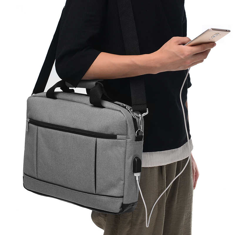 AUTEUIL USB Laptop Saco Masculino Saco de Pasta dos homens bolsa masculina Bolsa de Negócios Do Escritório Hombre Maletin EH1512 Protfolio Simples Venda