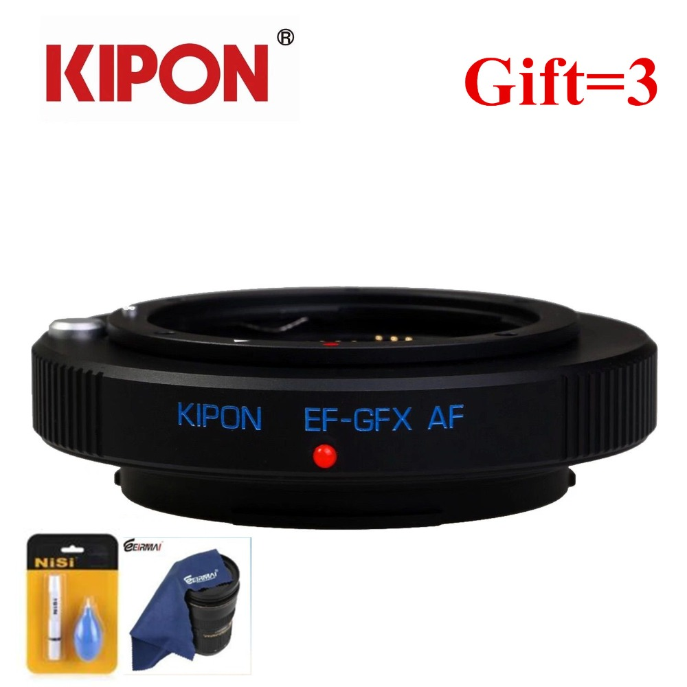 New KIPON EF GFX AF auto focus lens adapter for Canon EF EOS lens to Fuji