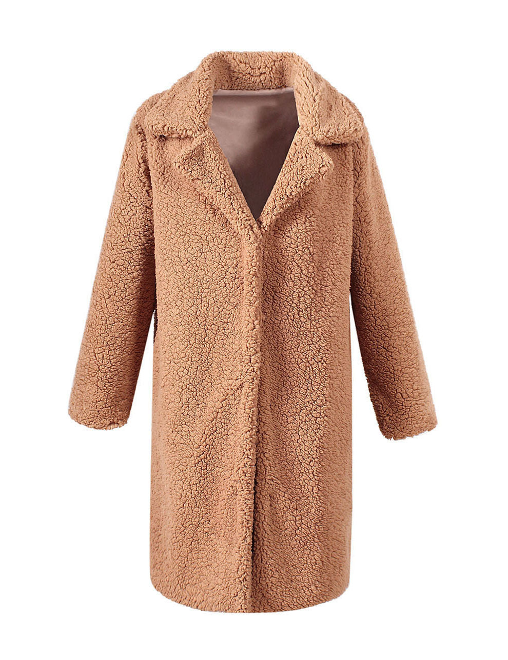 New autumn and winter long faux fur coat women 39 s casual coat in Faux Fur from Women 39 s Clothing