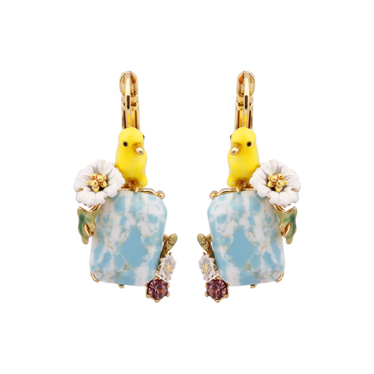 Juicy Grape hand painted enamel earring jewelry Blue Natural Stone Boucle D Oreille Cute Earrings Sieraden Joyas women gift серьги кольца fashion in 40 d oreille brincos argola pequeno 40er 1