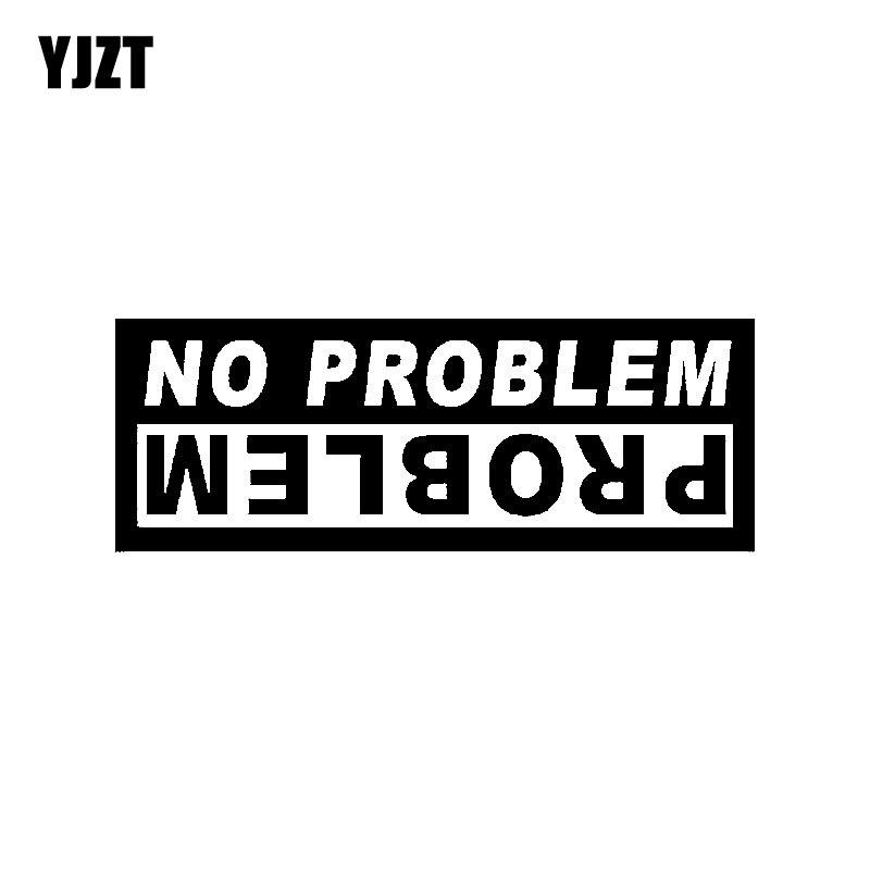 YJZT 14,5 CM * 5,2 CM gráficos de moda sin problema coche pegatina negro plata vinilo Car-styling C11-0690
