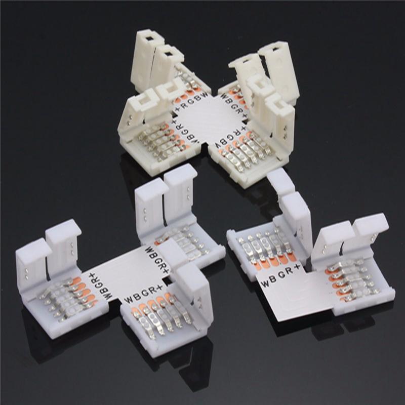 RGBW/RGBWW 5Pin 10mm X L T Type Shape PCB Adapter LED Strip Light 5050 Accessories Solderless 5pcs lot 10mm 5pin rgbw l type x type t shape no soldering connector for 5050 rgbw rgbww led strip 5pin rgbw connector