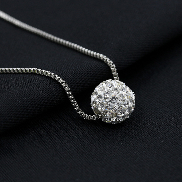 2019 Classic Wedding Crystal Silver Color Pendant Necklace for Women Trendy Rhinestone Collar Necklace Jewelry 1