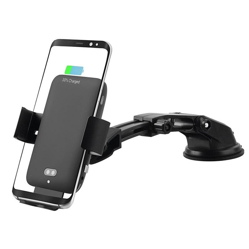OLLIVAN chargeur de voiture Pour chargeur sans fil pour téléphone Pour Samsung S9 S8 Plus Auto Voiture Sans Fil Chargeur Avec Support Pour iPhone X XS Max