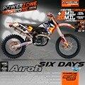 Пользовательские Команды Графики Фоны Airoh 6 Шесть Дней Отличительные Знаки Наклейки Комплекты для KTM SX SXF 2007-10 EXC 125 250 300 450 530 2008-11