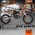 Custom Team Graphics  Backgrounds Airoh 6 Six Days Decals  Stickers Kits For KTM SX SXF 2007-10 EXC 125 250 300 450 530 2008-11