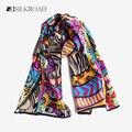 100% Шелковый Шарф Женщин Кошка Шарф 2017 Платки Шейный Платок Мода Новый Дизайн Печати Животных Шаблон Шарфы Шали Обруча