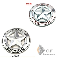 Black Red Pentagram TEXAS EDITION Emblem Car Body Side Wing For Equinox Travers Tahoe 176