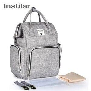 New Diapering Diaper Bag Change Pad Hooks Tissue Box Mummy Nappy Bag Large Capacity Baby Bag Travel Backpack Mummy Backpacks(China)