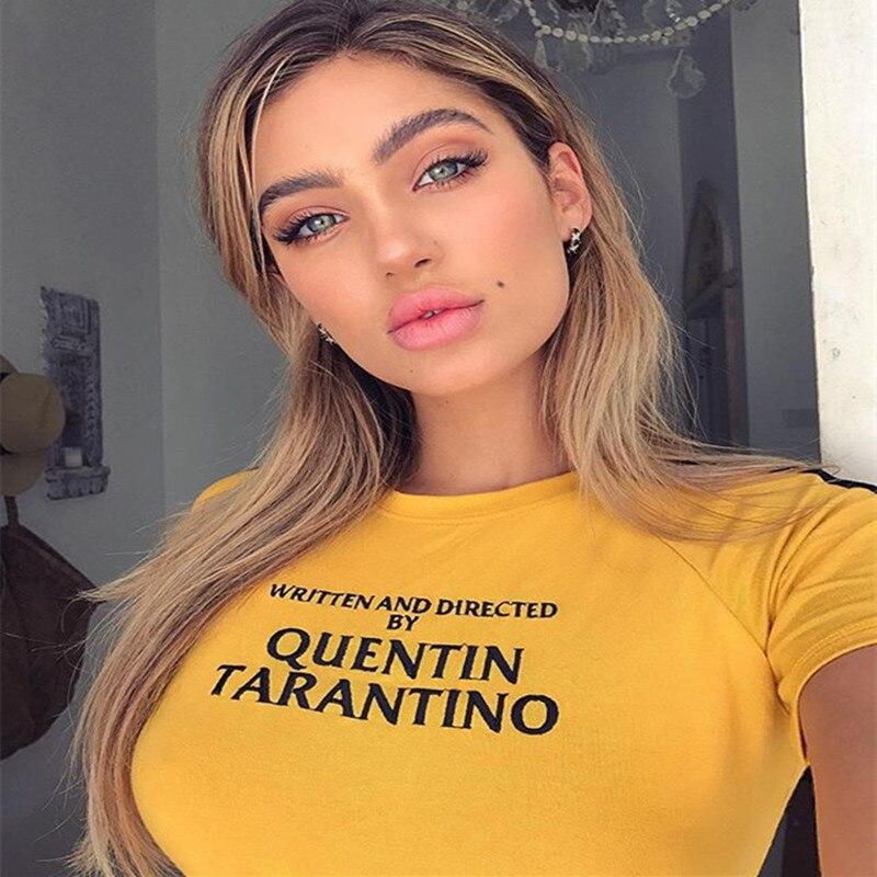 Quentin Tarantino Tumblr Letters Printed T-Shirt Unisex Fashion Casual Tee Tops Kill Django Bill 2 John Travolta Fashion T shirt
