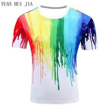 Herrenmode 3D T-Shirt Polyester Kreative blitz/rauch lion/eidechse/wassertropfen 3d gedruckt kurzarm T hemd