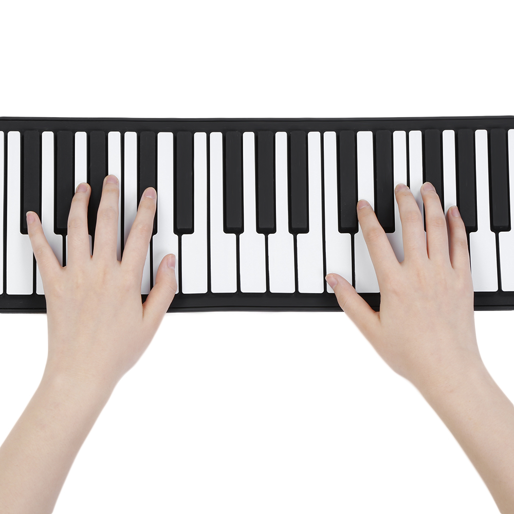 цена на Portable Silicone 88 Keys Hand Roll Up Piano with MIDI Electronic Keyboard